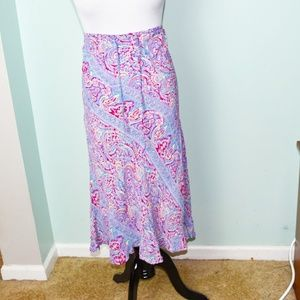 Super Cute Red and Blue Print Skirt